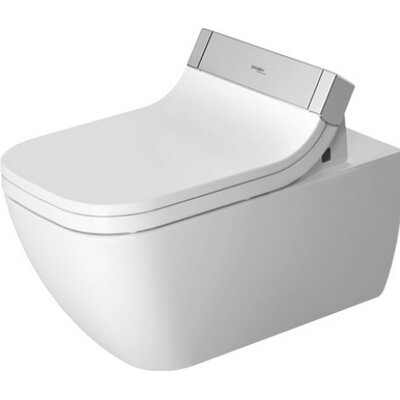 Happy D Wall Mounted Washdown Rimless Dual Flush Elongated Toilet Bowl