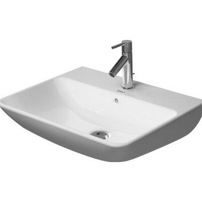 Starck Ceramic 24 Wall Mount Bathroom Sink with Overflow