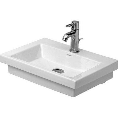 2nd Floor 20 Wall Mount Bathroom Sink with Overflow