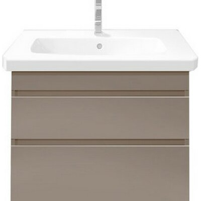 DuraStyle 22.88 Single Wall Mounted Vanity Set Base Finish: Dark Chestnut