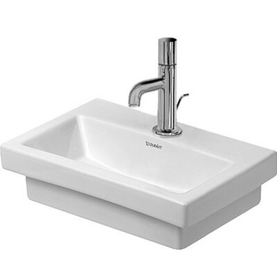 2nd Floor Ceramic 16 Wall Mount Bathroom Sink with Overflow