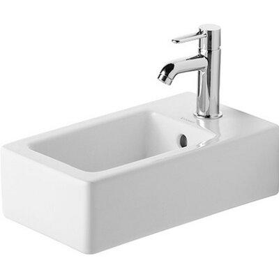 Vero Ceramic 10 Wall Mount Bathroom Sink with Overflow