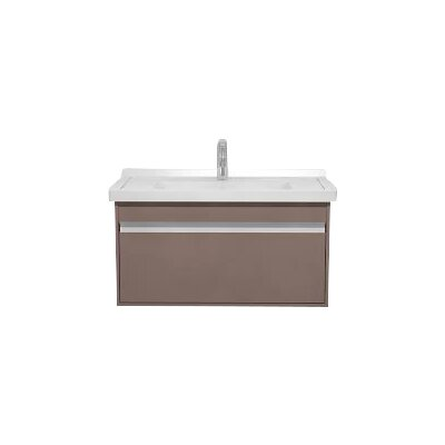 31 Single Wall Mount Bathroom Vanity Base Finish: Basalt Matte