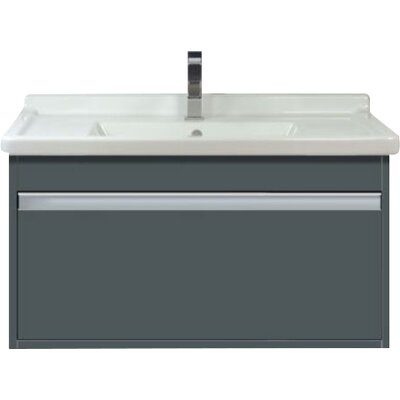 31 Single Wall Mount Bathroom Vanity Base Finish: Graphite Matte
