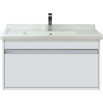 31 Single Wall Mount Bathroom Vanity Base Finish: White Matte
