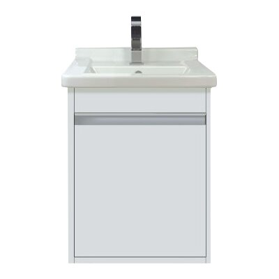 Wall Mount 17 Single Bathroom Vanity Base Finish: White Matte