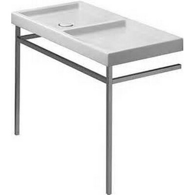 Starck Ceramic 44 Console Bathroom Sink Drain location: Left