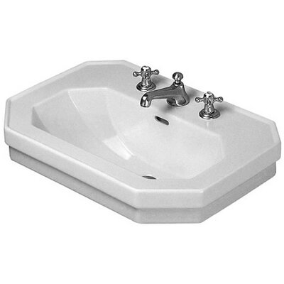 1930 Series Ceramic 24 Wall Mount Bathroom Sink with Overflow