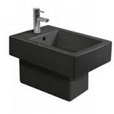 Vero Wall Mount Bidet Finish: Black