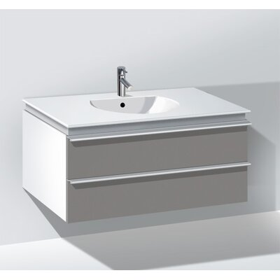 Darling New 39.38 Single Bathroom Vanity Base Color: Silver