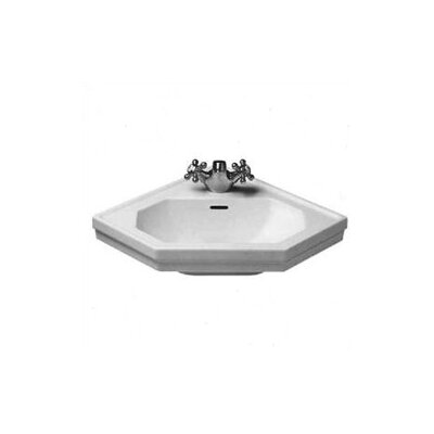 1930 Series Ceramic 24 Corner Bathroom Sink with Overflow