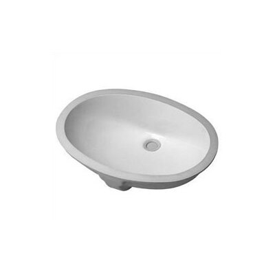 Santosa Ceramic Oval Undermount Bathroom Sink with Overflow