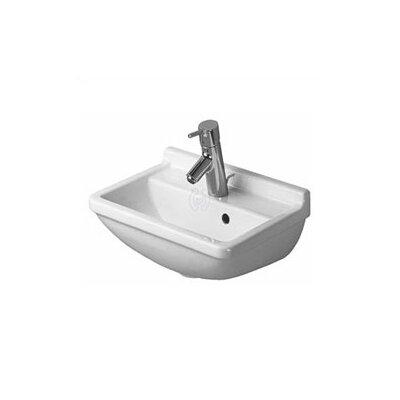 Starck 3 Ceramic 40 Wall Mount Bathroom Sink with Overflow