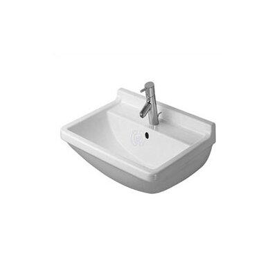 Starck 3 Ceramic 26 Pedestal Bathroom Sink with Overflow