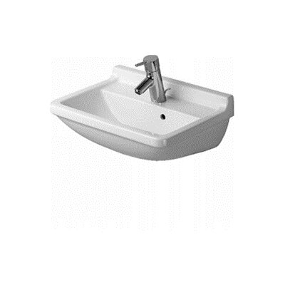 Starck 3 Ceramic 22 Wall Mount Bathroom Sink with Overflow