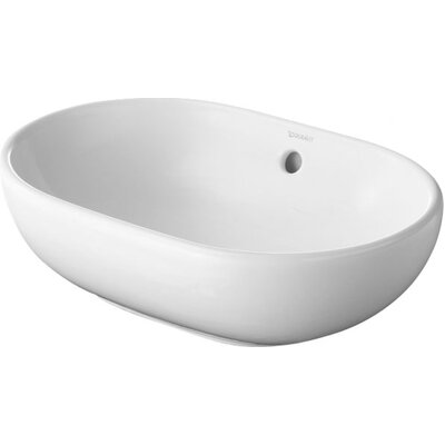 Foster Ceramic Oval Vessel Bathroom Sink with Overflow
