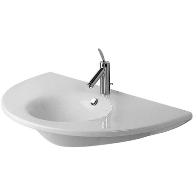 Starck 1 36 Wall Mount Bathroom Sink with Overflow