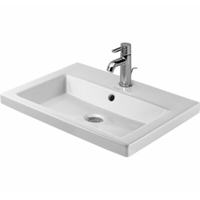 2nd Floor Ceramic 24 Wall Mount Bathroom Sink with Overflow