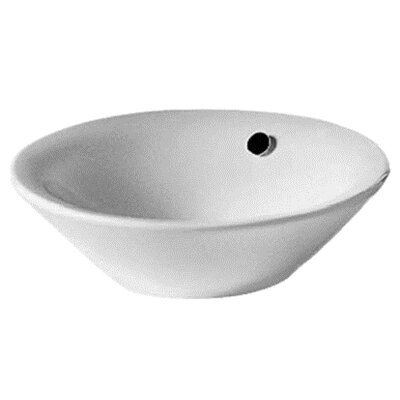 Starck 1 Vanity Circular Vessel Bathroom Sink with Overflow