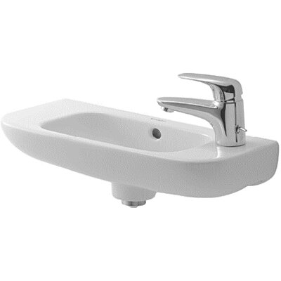 D-Code Ceramic 20 Wall Mount Bathroom Sink with Overflow Orientation: Right Tap Hole