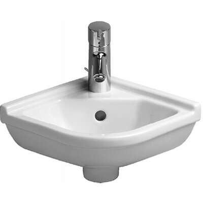 Starck 3 Ceramic 17 Corner Bathroom Sink with Overflow