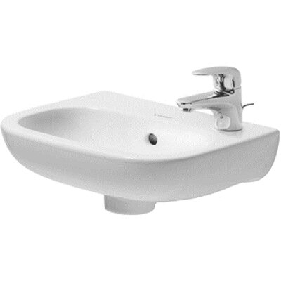 D-Code Ceramic 15 Wall Mount Bathroom Sink with Overflow