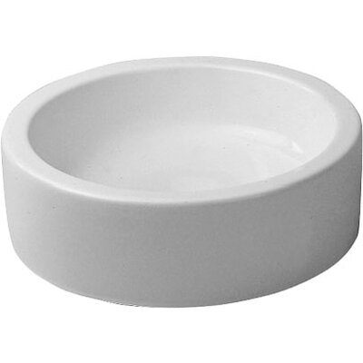 Starck 1 Ceramic Circular Vessel Bathroom Sink with Overflow