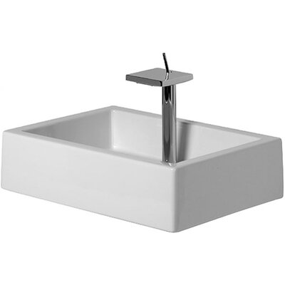 Starck Ceramic Rectangular Vessel Bathroom Sink