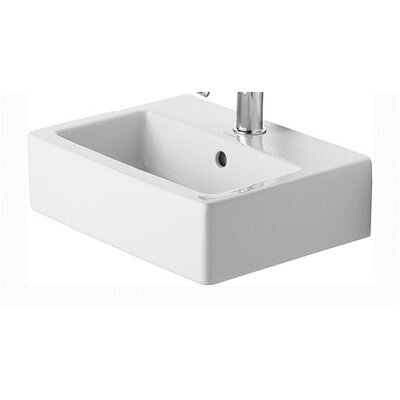 Vero Ceramic 18 Wall Mount Bathroom Sink with Overflow