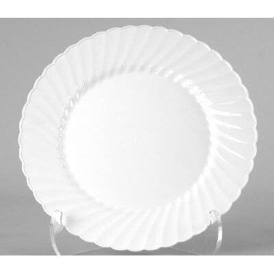 """(180 Per Container) 9"""" Classicware Plastic Plate in White CW9180W"""