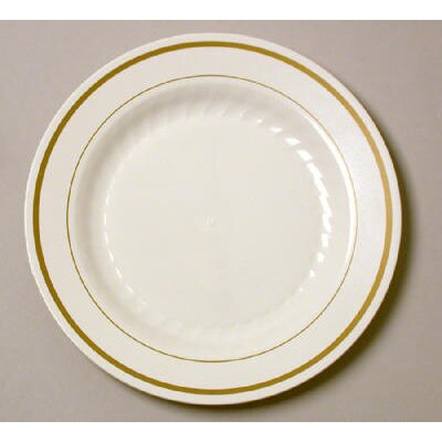 "WNA Comet Masterpiece 6"" Plastic Plate in Ivory with Gold Accents at Sears.com"