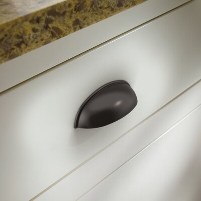"3"" Center Cup Pull Finish: Dark Oil Rubbed Bronze P34702-OB3-C"