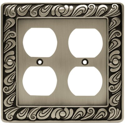 Paisley Double Duplex Wall Plate Finish: Brushed Satin Pewter
