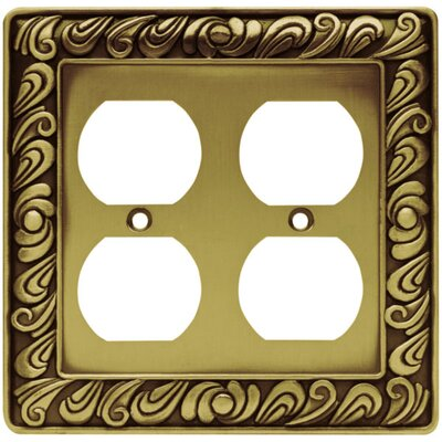 Paisley Double Duplex Wall Plate Finish: Tumbled Antique Brass