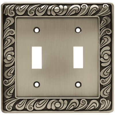 Paisley Double Switch Wall Plate Finish: Brushed Satin Pewter