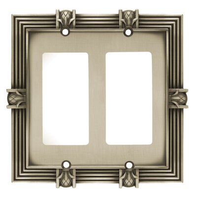 Pineapple Double GFCI/Rocker Wall Plate Finish: Brushed Satin Pewter