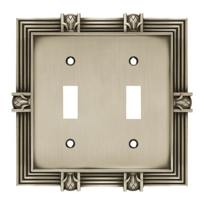Pineapple Double Switch Wall Plate Finish: Brushed Satin Pewter