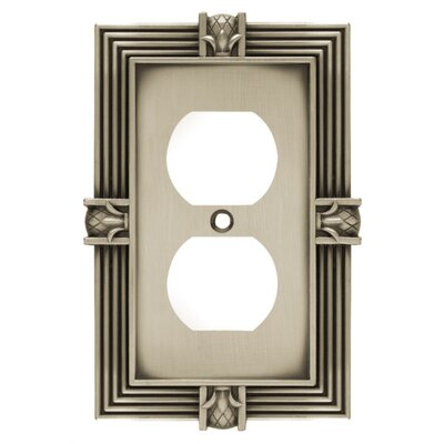 Pineapple Single Duplex Wall Plate Finish: Brushed Satin Pewter