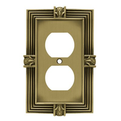 Pineapple Single Duplex Wall Plate Finish: Tumbled Antique Brass