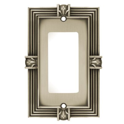 Pineapple Single GFCI/Rocker Wall Plate Finish: Brushed Satin Pewter