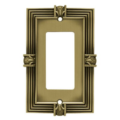 Pineapple Single GFCI/Rocker Wall Plate Finish: Tumbled Antique Brass