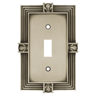 Pineapple Single Switch Wall Plate Finish: Brushed Satin Pewter