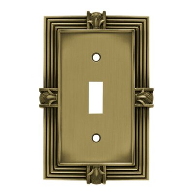 Pineapple Single Switch Wall Plate Finish: Tumbled Antique Brass