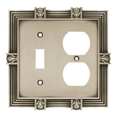 Pineapple Single Switch/Duplex Wall Plate Finish: Brushed Satin Pewter