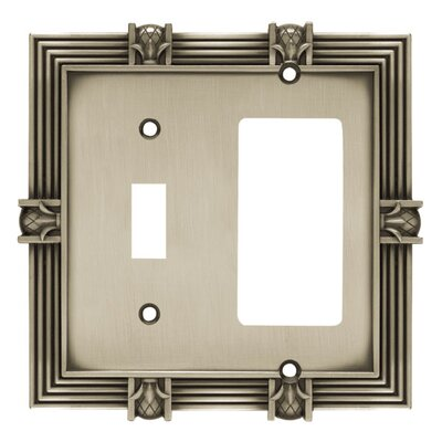 Pineapple Single Switch GFCI/Rocker Wall Plate Finish: Brushed Satin Pewter