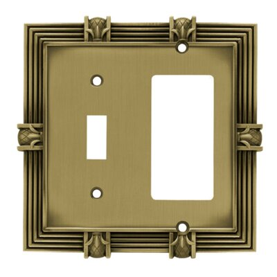 Pineapple Single Switch GFCI/Rocker Wall Plate Finish: Tumbled Antique Brass
