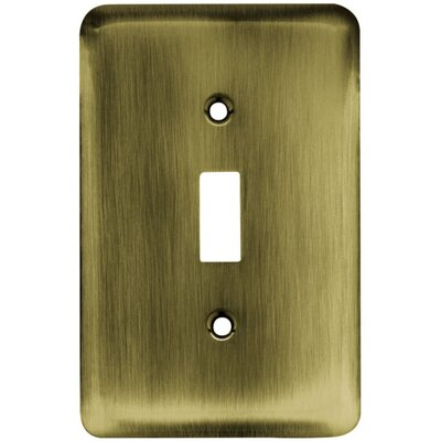 Stamped Steel Round Single Switch Finish: Antique Brass