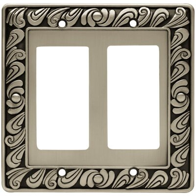 Paisley Double GFCI/Rocker Wall Plate Finish: Brushed Satin Pewter