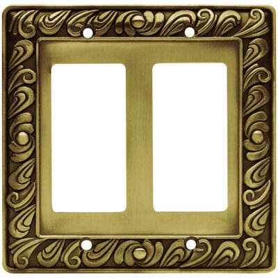 Paisley Double GFCI/Rocker Wall Plate Finish: Tumbled Antique Brass