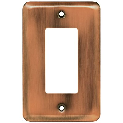 Stamped Steel Round Single Decorator Wall Plate Finish: Antique Copper
